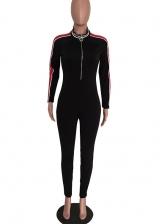 Skinny Contrast Color Slim Jumpsuits For Women