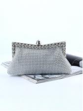 Metal Splicing Beading Clutch Bags