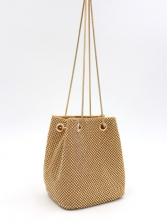 Rhinestone Chain Belt Mini Bucket Shoulder Bags
