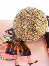 Colorful Rhinestone Golden Evening Bag