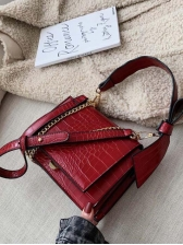 Crocodile Pattern Bow Small Shoulder Bags