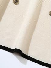 Ol Style Smart Waist Cotton Long Sleeve Blazer Dress