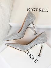 Versatile Sequined Glitter Wedding Heels