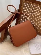 Pure Color Crossbody Shoulder Bag
