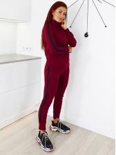 Striped Side Long Sleeve Winter Womens Activewear