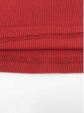 High Neck Letter Long Sleeve Skinny T Shirt