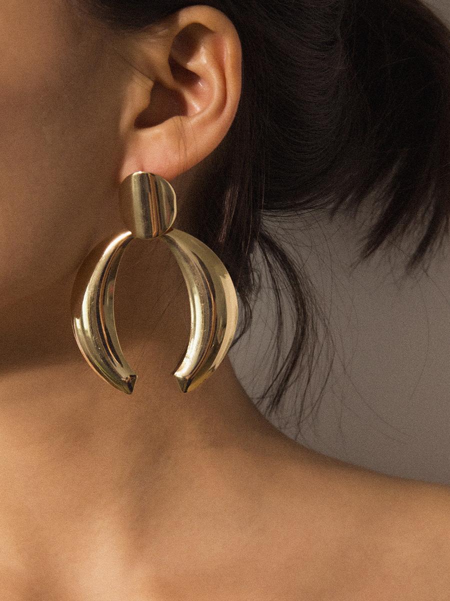 o-Shaped Semicircle Asymmetric Earrings For Women