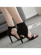 Sexy Rhinestone Super Heels Sandal