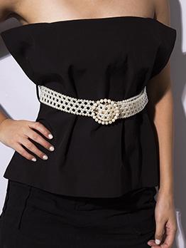 Chic Faux Pearl Belts For Women