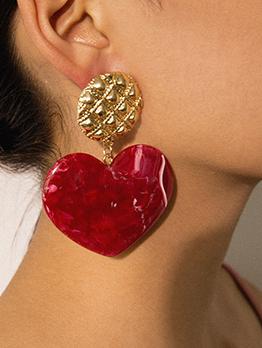 Easy Matching Heart Earrings For Women