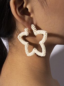 Simple Design Star Beaded Earrings