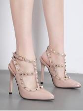 Rivet Buckle Strap Closed Toe Sandals