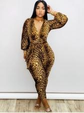 Leopard Print Club Jumpsuit For Women