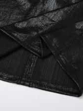 Boat Neck Black Long Sleeve Bodycon Dress