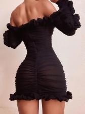 Sexy Off Shoulder Criss Cross Bodycon Dress