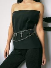 Vintage Double-Layer Cross Chain Belt