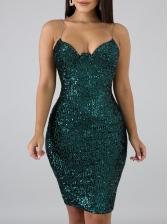 Hot Sale Sleeveless Sequin Dress For Women