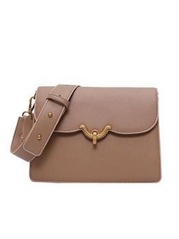 Simple Design Adjustable Belt Women Square Shoulder Bag