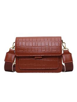 Alligator Print Detachable Wide Belt Ladies Shoulder Bag