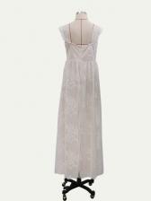 Wedding Off Shoulder Backless Lace Maxi Dress