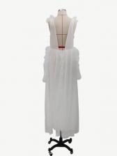 Stringy Selvedge Sleeveless Party Mesh Dress