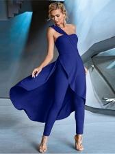 Single Shoulder Ruffled Ladies Jumpsuits