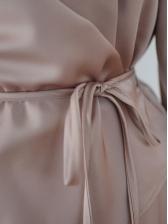 OL Style Slim Waist Long Sleeve Shirt Dress