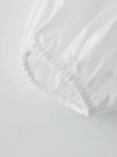 Turndown Collar Long Sleeve Casual White Blouse