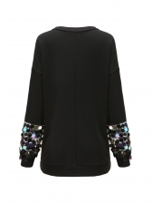 Sequined Casual Sweatshirts For Women