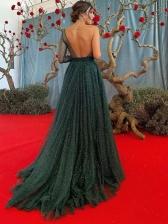 Shinning One Shoulder Backless Long Evening Dress
