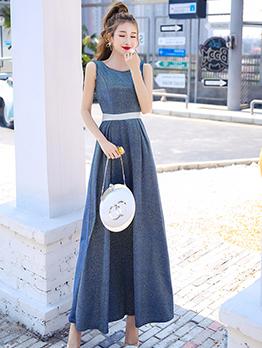 Sleeveless Backless Evening Dresses For Women