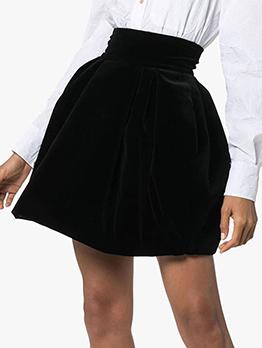 Classic Black Short Full Skirt