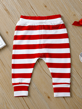 Striped Printed Baby Harm Pants
