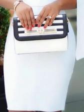 Slim Fit White Long Sleeve Bodycon Dress