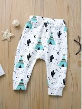 Striped Printed Baby Harm Pants