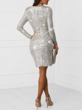 Elegant Deep v Sequin Sexy Cocktail Dresses
