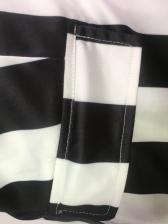 Fashion Striped Blazer Two Piece Short Set