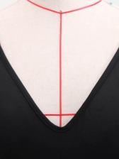 Elegant Flare Sleeve Large Hem Black Evening Gowns