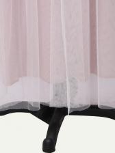 Backless Embroidery Large Hem Gauze Evening Dress