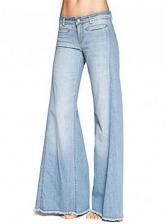 Tassel Mid Waist Bell Bottom Jeans