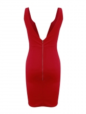 Seductive Deep v Backless Sleeveless Sheath Dress