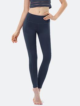 Solid Skinny Sport Yoga Pants