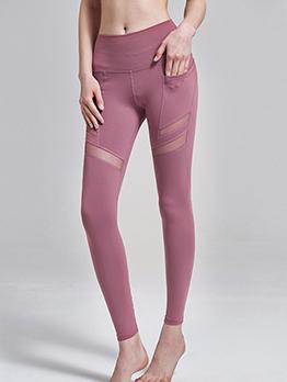 Patchwork Nylon High Waist Yoga pants