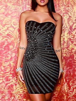 Euro Rhinestone Bodycon Sexy Cocktail Dresses
