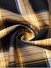 Fashion Rope Pulling Plaid Sleeveless Dress