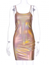 Laser Sexy Slip Backless Bodycon Dress