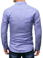 Business Style Striped Long Sleeve Shirt For Men