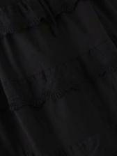 Loose Solid Shoulder Strap Black Dress