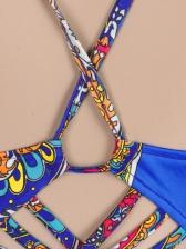 Tribal Print Slip Backless Casual Maxi Dresses