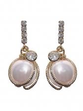 Easy Matching Rhinestone Decor Earrings